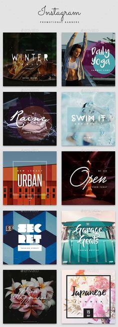 Instagram Promotional Banner Ads Design Templates - Banners & Ads Web Elements Instagram Banner Template PSD. Download here: https://graphicriver.net/item/instagram-promotional-banner-templates/17725462?s_rank=32&ref=yinkira