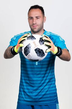 David Ospina of Colombia poses for a portrait during the official FIFA World Cup 2018 portrait session at Kazan Ski Resort on June 13 2018 in Kazan. Luis Muriel, Fifa World Cup 2018, Poses, Goalkeeper, Lionel Messi, Skiing, Emilio, Football, Portrait