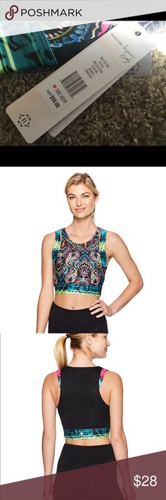 New Nanette Lepore Creole Crop Top Very pretty!  Active wear crop top Body: 89% polyester/ 11% spandex // Mesh: 86% MSRP: $58 Nanette Lepore Tops Crop Tops