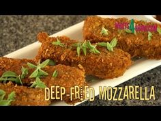 Crispy Deep-Fried Mozzarella Sticks. Deep-Fried Mozzarella, the Perfect ...