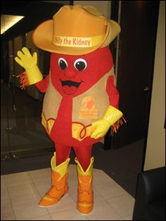 Billy the Kidney (Mascot of the National Kidney Foundation Serving Texas)