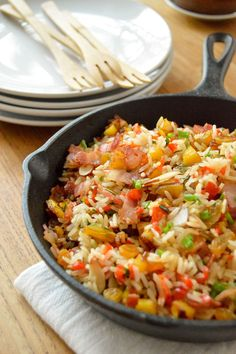 Fantasy rice #SundaySupper. Traditional Dominican rice for the holidays.