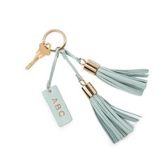 Good things come in small packages, and our leather tassel keychain is elegant proof. Made in Italy with smooth and pebbled Italian leathers, this small accessory add-on combines gold hardware details, clean, fringed lines, and a made-for-monogramming small leather tag to exemplify a simple yet meaningful, easy yet thoughtful gift.