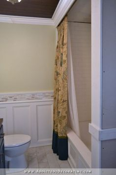 DIY Decorative Shower Curtain – Finished And Installed