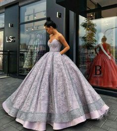 Ls purple & gray ball gown dresses in 2019 vestidos elegante Poofy Prom Dresses, Mermaid Style Prom Dresses, Grad Dresses Long, Homecoming Dresses, Dress Prom, Dress Long, Formal Dress, Ball Gowns Evening, Ball Gowns Prom