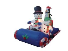 6 Foot Long Inflatable Christmas Snowmen & Penguin Sitting on a Sleigh BZB Goods http://www.amazon.com/dp/B005H3M3E6/ref=cm_sw_r_pi_dp_cQeRvb1H9MR3P