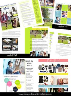 Senior Studio Marketing Magazine by Savant Design Templates   Savant Design Templates