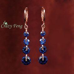 Diamond Pierced Dangle Drop Earrings