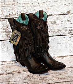 $269.95 Corral Fringe Boots.. Omg. Pretty sure these will be my next corral purchase!!!!