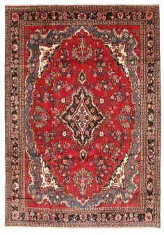 A Hamadan (Persian/Iran), Hand knotted, 9 mm thkns,  203x292  cm, Wool pile/Cotton warp. 160K knots/m2. CarpetVista/ABZ8