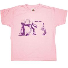 Banksy Kids T Shirt - I Am Your Father - Light Pink / 5-6 Years