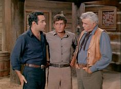 Adam is on the receiving end of Ben's reproving stare. Joe is just happy that it's not him for once. From The Rescue (Bonanza)