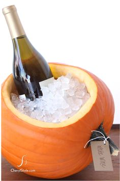 Fall crafts including a pumpkin-ice-chest