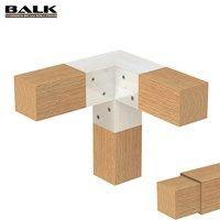 Connection method: BALK connectors / couplings / joints / fittings / corner pieces for wooden beams. Wood Pergola, Deck With Pergola, Pergola Ideas, Wood Pallet Furniture, Modular Furniture, Diy Wood Projects, Furniture Projects, Timber Architecture, Wood Joints
