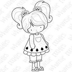 Watermelon Dress - Whimsie Doodles stamp