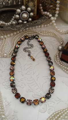 NEW 8mm Swarovski Dark Chocolate Necklace by KissMySassJewelry, $75.00