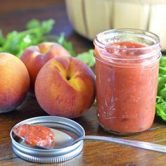 Spicy peach bourbon barbecue sauce
