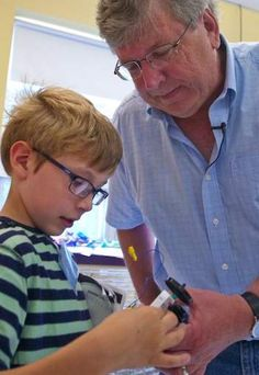 Participants in the Camp Invention at Garrison Elementary School had the chance to meet Dr. Eric Fossum this summer! Fossum, a National Inventors Hall of Fame Inductee, invented the technology that allows people to take pictures on their cell phones.