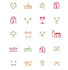 Map symbols for downtown