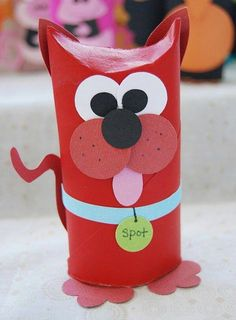 Toilet Paper Roll Crafts - Get creative! These toilet paper roll crafts are a great way to reuse these often forgotten paper products. You can use toilet paper rolls for anything! creative DIY toilet paper roll crafts are fun and easy to make. Toilet Tube, Toilet Roll Craft, Toilet Paper Roll Art, Toilet Paper Roll Crafts, Dog Toilet, Kids Toilet, Kids Crafts, Dog Crafts, Animal Crafts