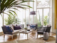 Living Room Interior, Living Room Decor, Conservatory Furniture, Modern Conservatory, Living At Home, 3 Seater Sofa, Online Furniture, Interior Inspiration, Outdoor Living