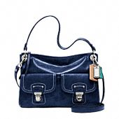 Another favourite from coach! Love the navy and the white stitching- also very cute in silver