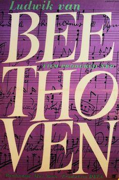 Polish poster:  Beethoven, film est-allemand de Max Jaan.  S. Bernacinski