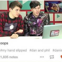 """their faces… it's like """"who found this???""""<<< OMG DANS FACE LOOKS LIKE HE IS ABOUT TO SAY LIKE 100000 BAD WORDS AND START FREAKING OUT"""