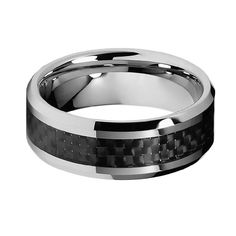 Chad's PICK.............8mm Black Carbon Fiber Inlay Men's Cobalt Free Tungsten Carbide Comfort-fit Wedding Band Ring (Size 5 to 15) - Size 13 The World Jewelry Center,http://www.amazon.com/dp/B007CM56JY/ref=cm_sw_r_pi_dp_kVQosb13S2JXDXF7