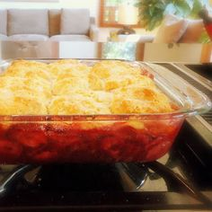 One Perfect Bite: A Simple Scrumptious Strawberry Cobbler