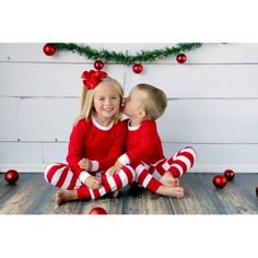 PREORDER Christmas Pajamas - Personalized Striped Pajamas!