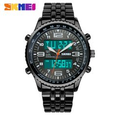 US $88.95 - SKMEI Fashion Sports Watch Reloj Hombre Full Steel Watches Men Luxury Brand Clock Quartz Sport Watch Waterproof Men Wristwatch