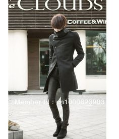 MAN KOREAN VERSION OF THE SLIM LONG COAT WOOL WINDBREAKER JACKET COAT-in Wool & Blends from Apparel & Accessories on Aliexpress.com