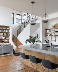 5 Bedroom Decor Mistakes to Avoid House design plan with 3 bedrooms Haus Design Plan mit 3 Schlafzimmern - Home Design with Plansearch Dream Home Design, Modern House Design, Modern Home Interior Design, Modern Zen House, Natural Modern Interior, Loft House Design, Home Stairs Design, Stair Design, Railing Design