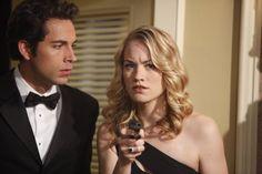 "Zachary Levi (Chuck Bartowski) and Yvonne Strahovski (Sarah Walker) in Chuck (2007): ""Chuck Versus the Role Models"""