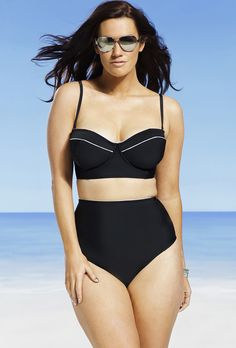 Swim Sexy Moonlight Underwire Bikini  Sweetheart neckline; Removable shoulder straps with sliding adjustability offer two style options: wear as a tank or bandeau; High waist brief with poly lining and 11quote; side seam provides full coverage; The post  Swim Sexy Moonlight Underwire Bikini  appeared first on  Vintage & Curvy .  http://www.vintageandcurvy.com/product/swim-sexy-moonlight-underwire-bikini