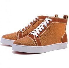 Buy Christian Louboutin Mans Glitter Nubuck High Top Sneakers Orange from Reliable Christian Louboutin Mans Glitter Nubuck High Top Sneakers Orange suppliers.Find Quality Christian Louboutin Mans Glitter Nubuck High Top Sneakers Orange and more on Kobeftb Red Bottom Heels, Red High Heels, High Top Sneakers, Grey Sneakers, Shoes Sneakers, High Tops, Louboutin High Heels, Cheap Louboutins, Cheap Christian Louboutin