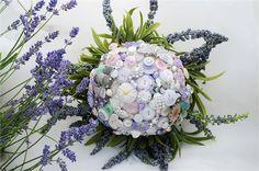 """""""Lavender Garden"""" Button Bouquet - I Heart Buttons"""