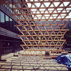 Fakultät für Architektur: 1:1 Modell Zollinger-Lamellendach