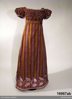 Dress, 1820-3, Swedish.