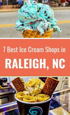 When you visit Raleigh, here are 7 of the best ice cream shops in Raleigh the locals love. #Raleigh #NorthCarolina