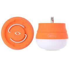 ShuoFang Adoquinado 90LM Mini LED Luz Light de Acampa Bombilla de Camping Ultra Brillante LED Linterna - Brillo Ajustable con Batería de Larga Duración! Ideal para Excursión,Hiking Acampar IPX4 Resistente al Agua con 3 AAA Incluido! Distancia de Irradiación de 40 Metros Color Amarillo