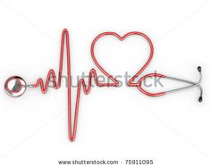 Stethoscope and a silhouette of the heart and ECG. Love love love this idea for a nurse or doctor tattoo.