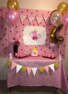 ideas party decoracion ideas birthday peppa pig for 2020 Peppa Pig Birthday Decorations, Peppa Pig Birthday Cake, Peppa Pig Party Ideas, Ideas Party, Fiestas Peppa Pig, Cumple Peppa Pig, 3rd Birthday Parties, 2nd Birthday, Special Birthday