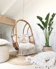 20 Astonishing Rattan Chair Furniture Design Ideas On A Budget Balcony Rattan Furniture, Furniture Design, Furniture Ideas, Rattan Chairs, Furniture Layout, Furniture Outlet, Room Swing, Swinging Chair, My New Room