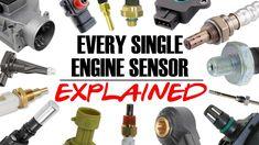 EVERY ENGINE SENSOR EXPLAINED - MAF, MAP, IAT, TPS, 02, NOx, EGT - How i... Car Life Hacks, Map Sensor, Ignition Timing, Crankshaft Position Sensor, Life Savers, Custom Cars, Super Cars, It Works, Engineering