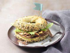 Bagel au confit de canard, figues et fourme d'AmbertVoir la recette du bagel au confit de canard, figues et fourme d'Ambert