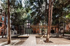 """As one of four finalists, """"Common Unity"""" by Rozana Montiel Estudio de Arquitectura and Alin V. Wallach was revealed as the 2018 MCHAP. Space Architecture, Sustainable Architecture, Contemporary Landscape, Landscape Design, Park Playground, Strange Places, Garden Park, Urban Planning, Pavement"""