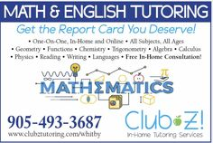 Math and English Tutoring PreK to Adult Affordable rates Flexible Schedule Highly Qualified Tutors Brooklin, Whitby, Ajax, Oshawa, & Surrounding Areas Study Skills, Reading Skills, Writing Skills, Science Tutor, Math Tutor, Reading Tutoring, Reading Fluency, Physic Reading, College Math