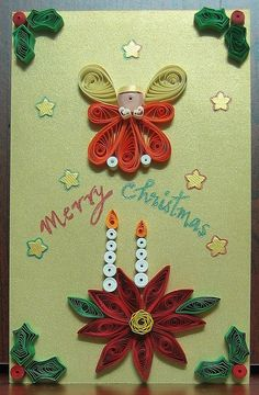Image detail for -... couldn t put off my christmas card any longer quilling the holly